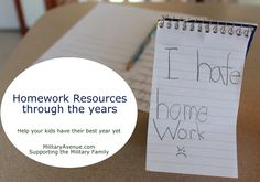 Homework Help & Resources.  Online tools and articles from the experts
