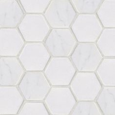 Jeffrey Court Statuario Hex Mosaic 12 in. x 12 in. Marble Floor and Wall Tile-53087 at The Home Depot