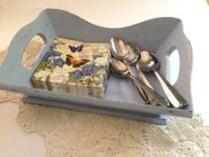 Hand painted up cycled wooden serving tray by PillowtasticPlus, $24.00