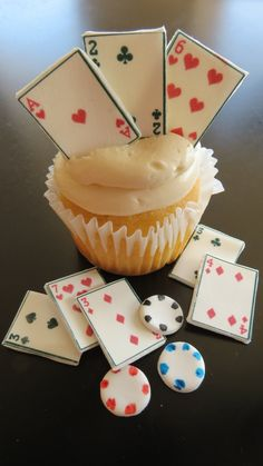 Casino Theme Cupcake and Cake Toppers EDIBLE