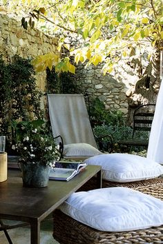 """Nice Furniture for back patio...right before the """"Secret Garden"""""""