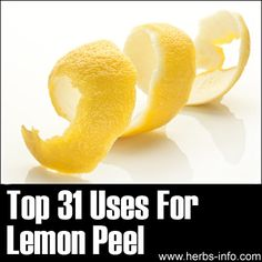 Top 31 Uses For Lemon Peel #mom #tips #jumblzar