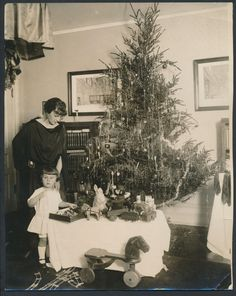 1920's Christmas Photo with Toys Photo