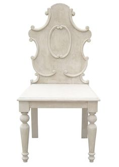Carved Chair in Vintage Gray
