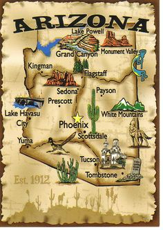 Arizona Map! EVERYTIME  WE GO TO ARIZONA WE HAVE TO VISIT THE AIRCRAFT GRAVEYARD AS IT IS CALLED!