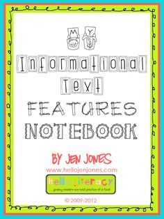 Common Core: The Teaching of Reading Informational Text by teaching nonfiction text features that authors use.