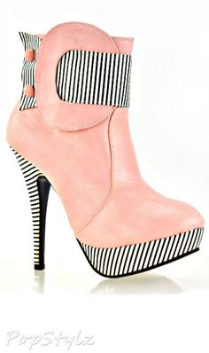 Cute High Heel Ankle Boot