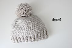 120: delia creates: Crocheted Ribbed Beanie - Free Pattern; Baby and kids hats: 1, 21, 24, 42, 51, 106, 119, 120.