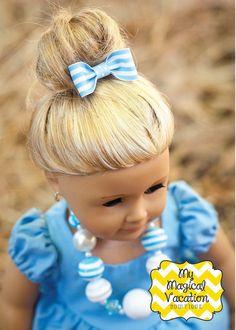 Cinderella American Girl Doll Bow Set, Disney Bow, American Girl Doll Accessory, Doll Accessories, American Girl Doll, Dolly and Me on Etsy, $4.95