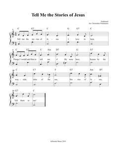 Tell Me The Stories of Jesus FREE Printable Sheet Music and Song!