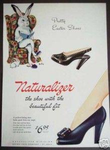 easter shoe, easter ad, easter joy, 40s easter, vintag shoe