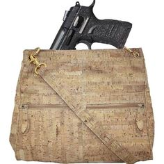 EAA Pavona Concealed Carry Cork Compartment Purse with EAA Witness Pavona Compact Semi Auto Pistol .9mm Luger 3.6 Barrel 13 Rounds Polymer Frame Black with Silver Sparkles Black Slide Finish