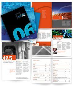 Annual Report - blue + orange