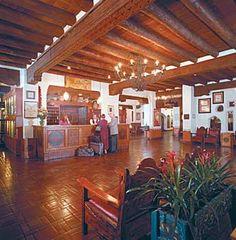 La Fonda Hotel Lobby Santa Fe, NM interior decorated by Mary Colter