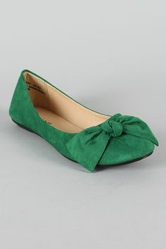 Green! I love green shoes.