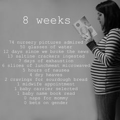 What are you doing at 8 weeks?
