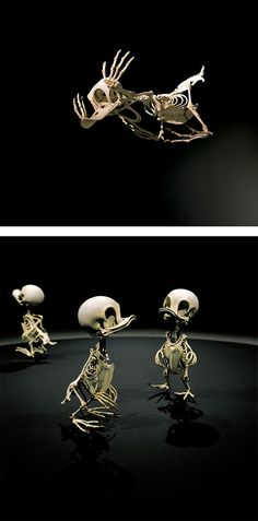 Animatus: Realistic Skeletons of Famous Cartoon Characters by Hyungkoo Lee