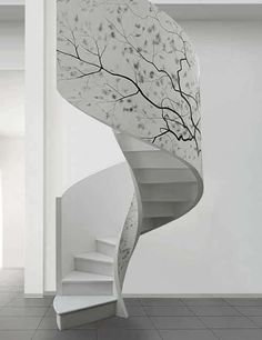 The shape and the pattern. So pretty! #stairs #hgtv