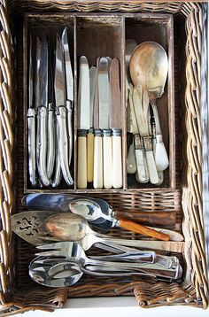 Silverware organization.... in a basket :)