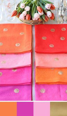 Celosia Orange Color Palettes for your Wedding Day. Source: Design Mom #celosiaorange #colorpalettes