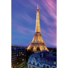 Eiffel Tower at Dusk-Paris, Photography Poster Print, 24 by 36-Inch (Kitchen)  http://freegiftcard.skincaree.com/tag.php?p=B000XRNKZM  B000XRNKZM