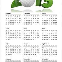 Golf 2013 Calendar