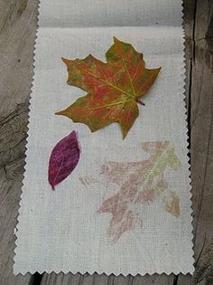 Leaf Pounding...perfect activity for some children!