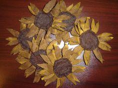 Free pattern sunflowers
