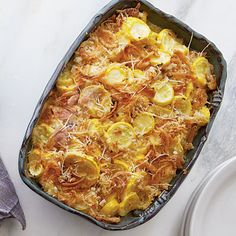Squash Casserole Recipe | Why limit French fried onions to green bean casserole? We love them on this cheesy squash casserole, too.