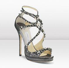 Swarovski crystals on Jimmy Choo shoes
