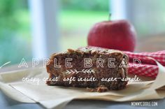 This is one of my absolute favorite fall recipes. It's so easy and so delicious. Makes two loaves, so you can share! Apple Bread via http://mommycoddle.com #fallrecipes #applecake