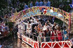 Fiesta River Parade in San Antonio