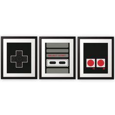 NES Controller Print Set - 8x10 Prints   Nintendo Art