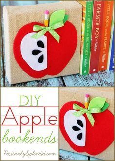 Adorable DIY apple bookends from Positively Splendid.