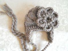 Baby Hat, Newborn Baby Girl Hat, Infant Hat Baby Girl Photo Prop. $16.50, via Etsy.