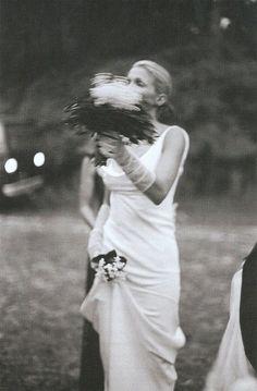 Carolyn Bessette Kennedy on her wedding day.