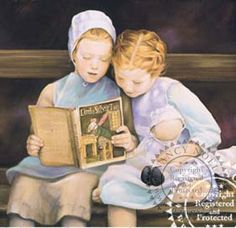 Nancy Noel's work.  Love Amish children & what a sweet smile on the little girl on the right..