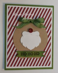 Stampin' Up! Christmas Santa Puch Art by Thoughts That Stick . : Santa's Beard