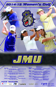 The JMU 2014-2015 women's golf schedule poster is here! Click to download.