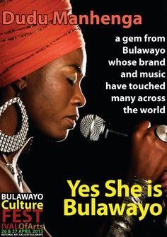 """The queen, Dudu Manhenga is an absolute gem and pride from Bulawayo. She has developed her brand into a formidable and reputable force on the Zimbabwean and international music scene. Yes, She Is Bulawayo."""
