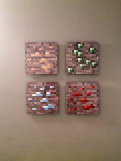 Minecraft wall art