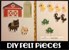PRINT Your Own Felt Pieces Using Iron On Transfer Papers.  So easy and cheap!  Links to fun printables too
