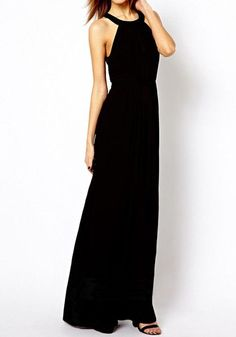 You can't go wrong with a black maxi dress