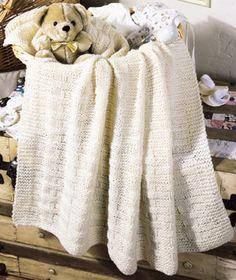 Basket Weave Knit Baby Blanket