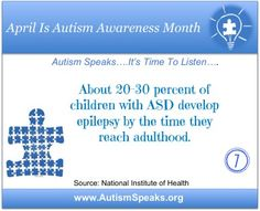 Autism Awareness Month Fact #7  #AutismSpeaks #LearnLiveShare