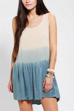 Staring At Stars Ombre Drop-Waist Dress #urbanoutfitters