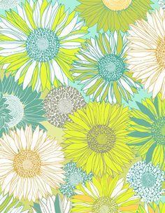 floral pattern design, prints patterns, floweri pattern, color schemes, daisi, daisy pattern, print pattern design, print patterns, floral print pattern