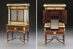 A RUSSIAN ORMOLU-MOUNTED WHITE MARBLE AND MAHOGANY BONHEUR DU JOUR c.1790