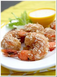 Coconut Baked Shrimp with Pina Colada Dipping Sauce #Superbowl