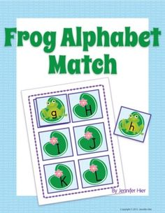 Frog alphabet match....great for literacy center or busy bag